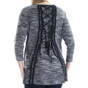 Corset back high low top